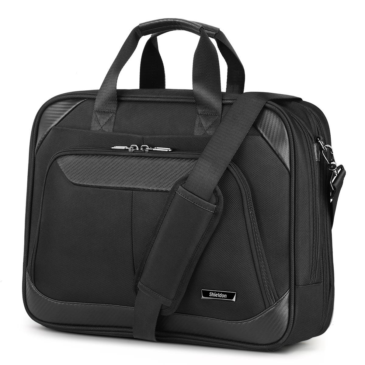 SHIELDON Laptop Bag 15.6-inch Business Briefcase Notebook Bag Messenger Bag, Carry-on Handbag for Men