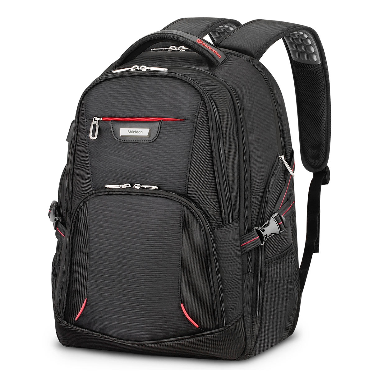 SHIELDON Business Laptop Backpack, Durable 35L Carry-on College Schoolbag for Men