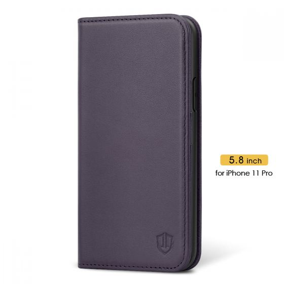 SHIELDON iPhone 11 Pro Leather Cover - iPhone 11 Pro Protective Case - Purple
