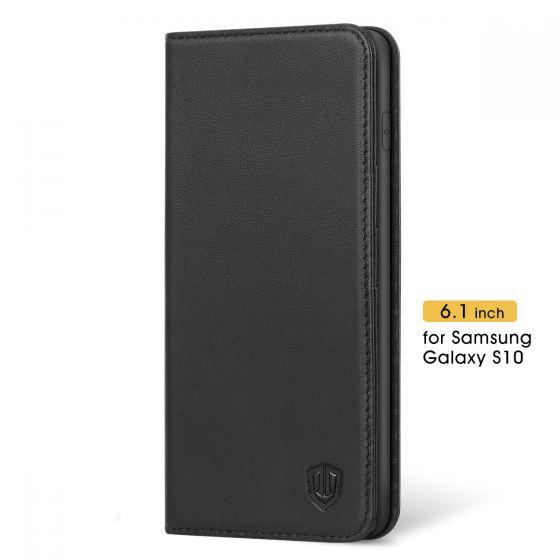 SHIELDON Samsung Galaxy S10 Wallet Case, Genuine Leather Wallet Case for Samsung S10