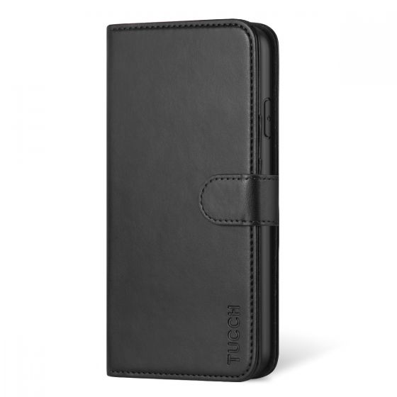 TUCCH iPhone 11 Pro Max Wallet Case, iPhone 11 Pro Max Leather Case, Folio Flip Cover with RFID Blocking, Stand, Credit Card Slots, Magnetic Strap Closure