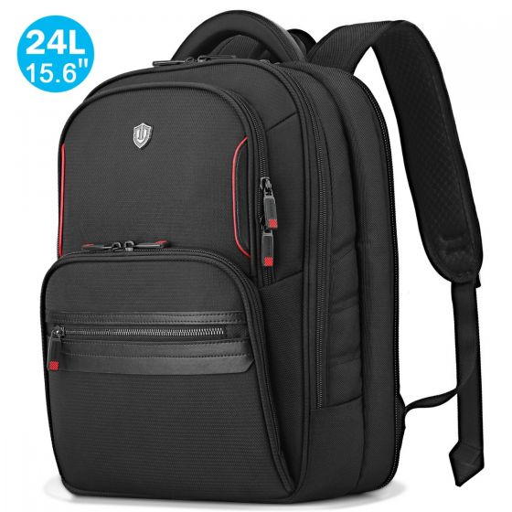 SHIELDON 15.6-inch Laptop Backpack, TSA Friendly Business Computer Bag Water Resistant 24L Travel Carry-on Notebook Backpack with Adjustable Laptop Sleeve for Men & Women Collage School