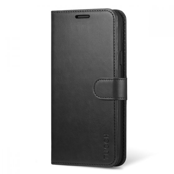 TUCCH Samsung S9 Plus Wallet Case, Magnetic Closure, Premium PU Leather Flip Folio Wallet Case