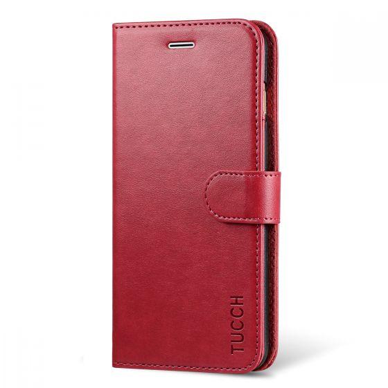 TUCCH iPhone 7 Plus Wallet Case, iPhone 8 Plus Case, PU Leather Flip Wallet Case