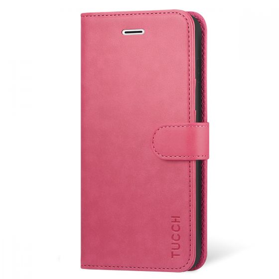 TUCCH iPhone X Case, PU Leather Purse Protective Cover KickStand Flip Book Case, TPU Shockproof Interior Case
