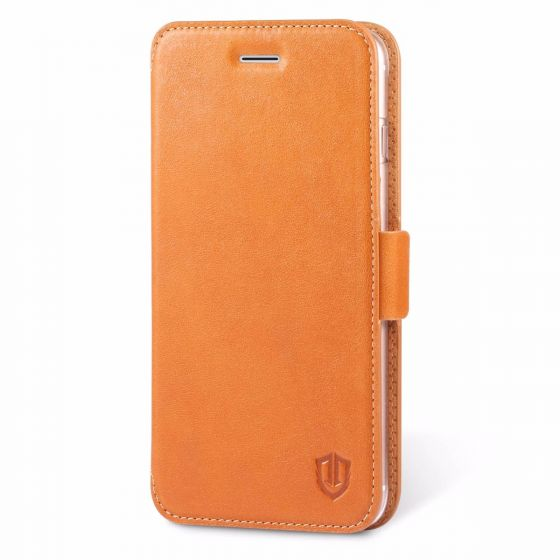 SHIELDON iPhone 7 Plus Flip Case - Genuine Leather Case