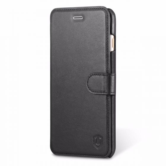 SHIELDON iPhone 7 Plus Folio Case Compatible with iPhone 8 Plus - Genuine Leather Case