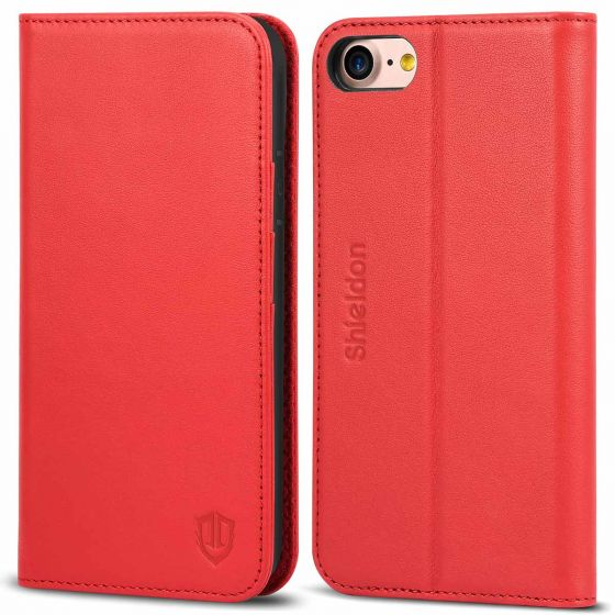 SHIELDON iPhone 7 Wallet Case with Folio Style, Kickstand Design, Magnetic Closure