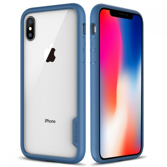 los angeles 80618 3c465 SHIELDON iPhone XS / iPhone X Case - Coral blue iPhone X / iPhone 10 TPU  bumper Case with Transparent Back Cover - Glacier Series
