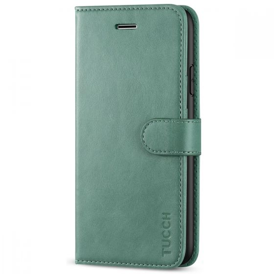 TUCCH iPhone 11 Wallet Case with Magnetic, iPhone 11 Leather Case - Myrtle Green