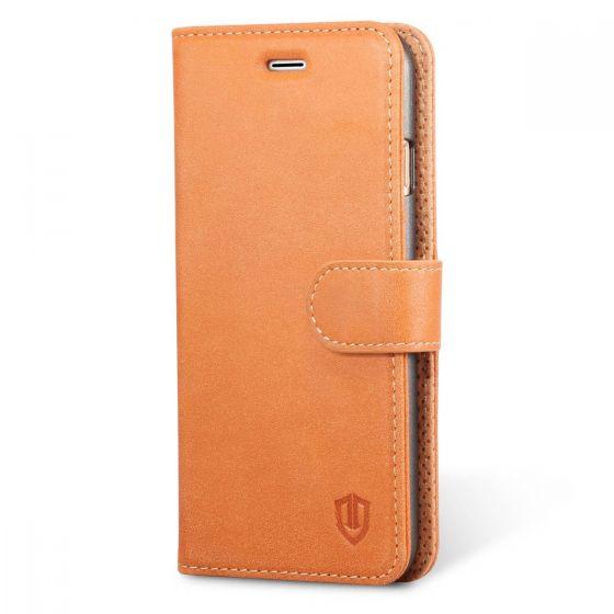 SHIELDON iPhone 6S Genuine Leather Case - Flip Wallet Case