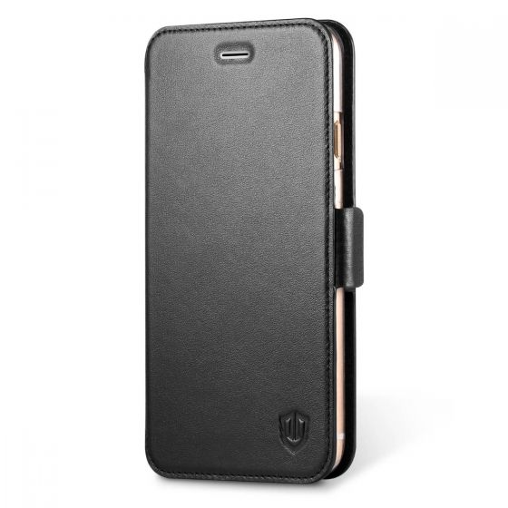 SHIELDON iPhone 6S Plus Wallet Cover - Genuine Leather Case