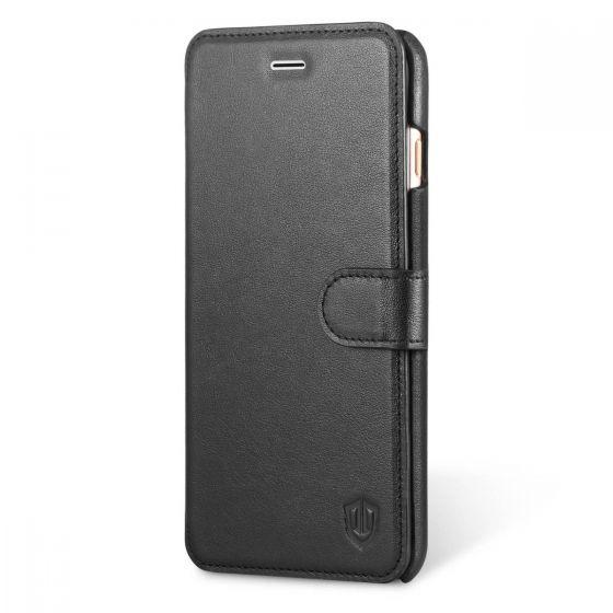 SHIELDON iPhone 6 Plus Genuine Flip Wallet Case with Kickstand