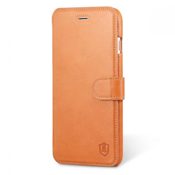 SHIELDON iPhone 6S Plus Genuine Wallet Flip Case