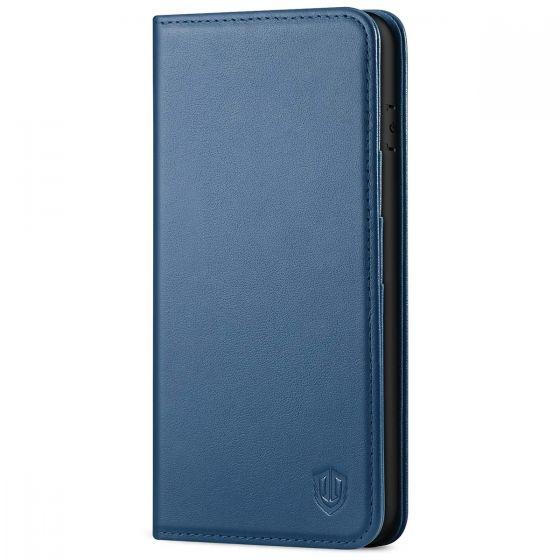 SHIELDON iPhone 8 Plus Wallet Case - iPhone 7 Plus Genuine Leather Kickstand Case - Royal Blue