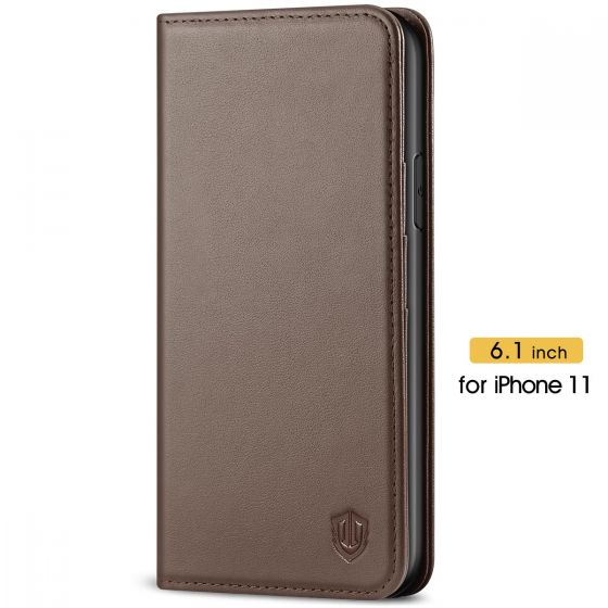 SHIELDON iPhone 11 Protective Case - iPhone 11 Wallet Case Slim Thin - Coffee