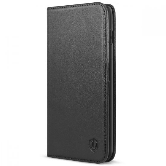 SHIELDON iPhone XS Max Wallet Case, iPhone  XS Max Leather Case, Auto Sleep/Wake Up, RFID, Magnetic Closure - Black