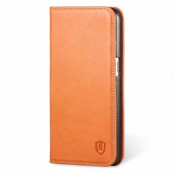 SHIELDON Galaxy S7 Genuine Leather Case, Flip Book Case, Kickstand