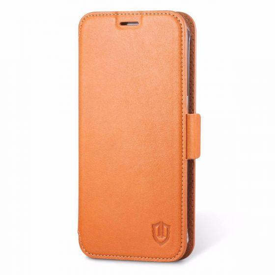 SHIELDON Galaxy S7 Edge Wallet Case - Genuine Leather Case
