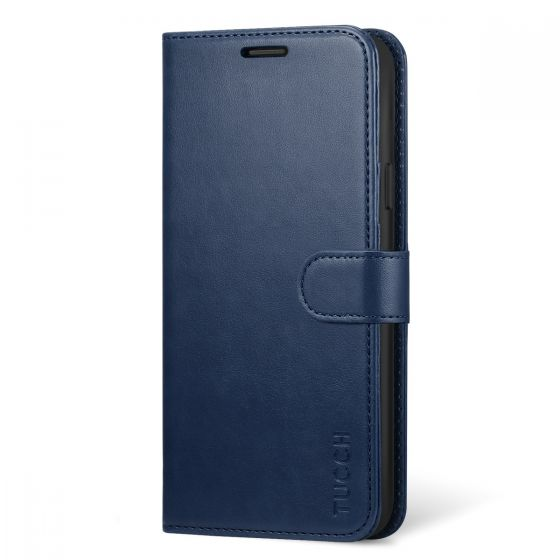 TUCCH Galaxy Note 9 Wallet Case - Note 9 Leather Cover - Blue