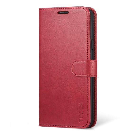 premium selection bada4 668ac TUCCH Samsung Galaxy Note 9 Wallet Case - Leather Cover, Stand, Flip Style  - Red