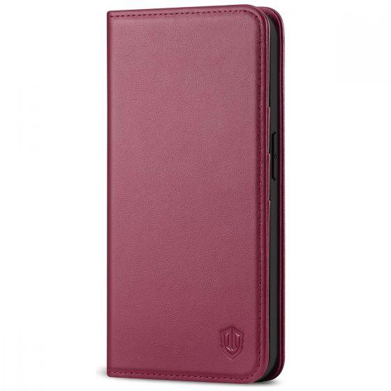 SHIELDON iPhone 12 Mini Wallet Case - Mini iPhone 12 5.4-inch Folio Case - Red Violet