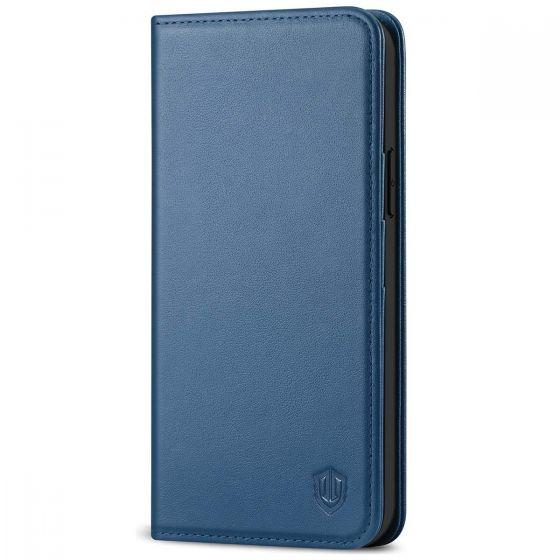 SHIELDON iPhone 12 Wallet Case - iPhone 12 Pro 6.1-inch Folio Leather Case - Royal Blue