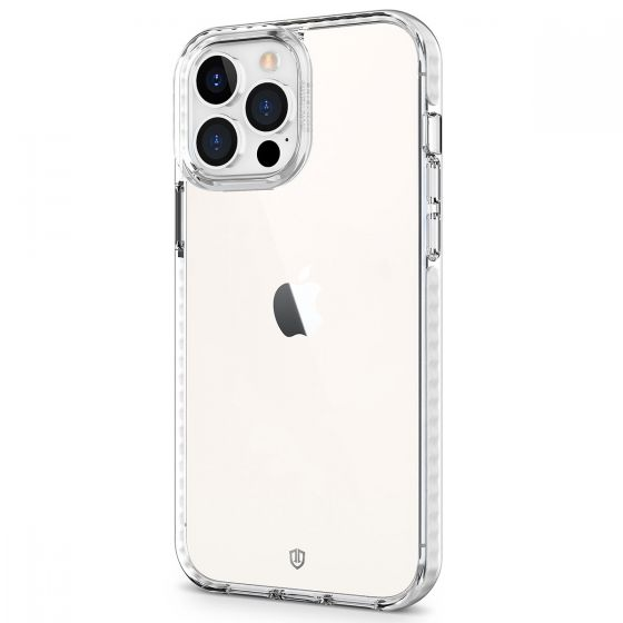 SHIELDON iPhone 13 Pro Max Clear Case Anti-Yellowing, Transparent Thin Slim Anti-Scratch Shockproof PC+TPU Case with Tempered Glass Screen Protector for iPhone 13 Pro Max 5G Crystal Clear