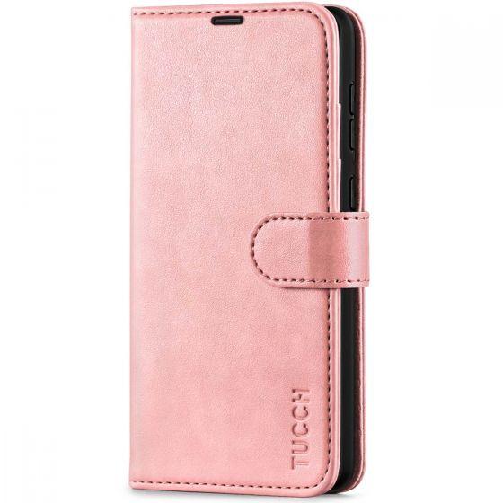 TUCCH SAMSUNG GALAXY A72 Wallet Case, SAMSUNG A72 Flip Case 6.7-inch - Rose Gold