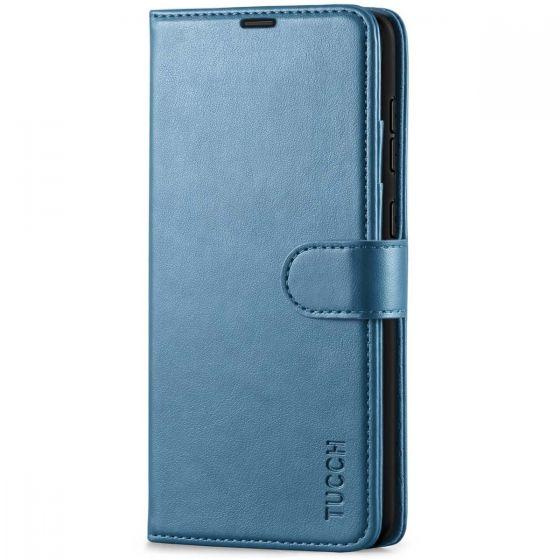 TUCCH SAMSUNG GALAXY A72 Wallet Case, SAMSUNG A72 Flip Case 6.7-inch - Lake Blue