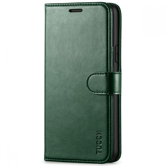 TUCCH iPhone 11 Wallet Case with Magnetic, iPhone 11 Leather Case - Midnight Green