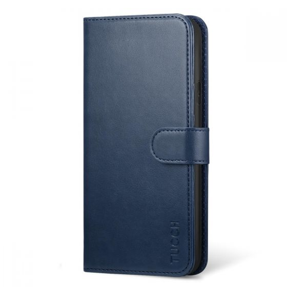 new concept c718e dc05d TUCCH iPhone XS Wallet Case, iPhone XS Leather Cover, Auto Sleep/Wake up,  Support Wireless Charging - Blue