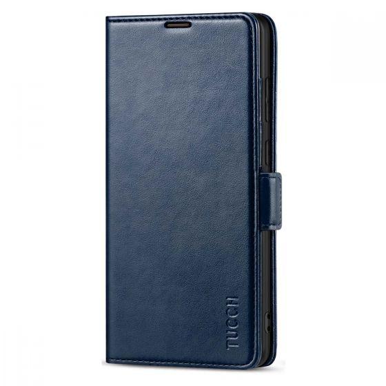 TUCCH SAMSUNG Galaxy Note20 Wallet Case, SAMSUNG Note20 5G Flip Cover Dual Clasp Tab-Dark Blue