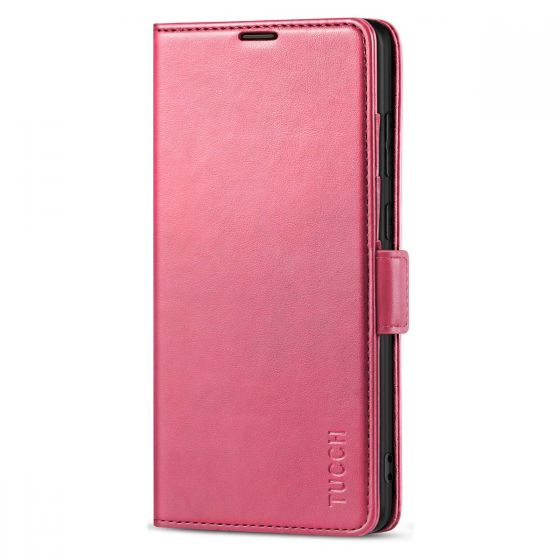 TUCCH SAMSUNG Galaxy Note20 Wallet Case, SAMSUNG Note20 5G Flip Cover Dual Clasp Tab-Hot Pink