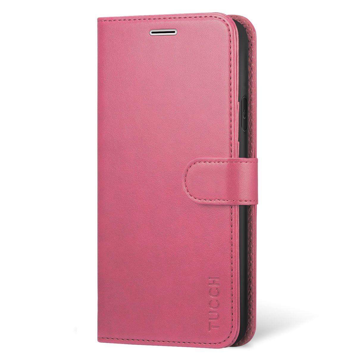 official photos 026f8 f0696 TUCCH iPhone XR Wallet Case - iPhone 10R Leather Cover, Stand, Flip Style -  Hot Pink