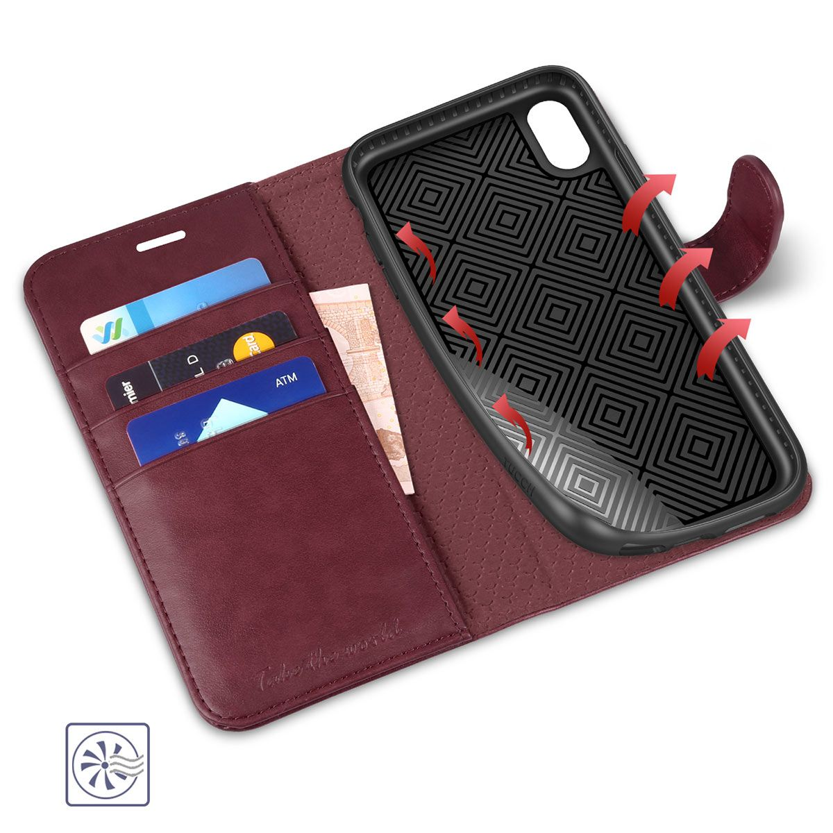 Tucch Iphone Xr Wallet Case Iphone 10r Leather Case