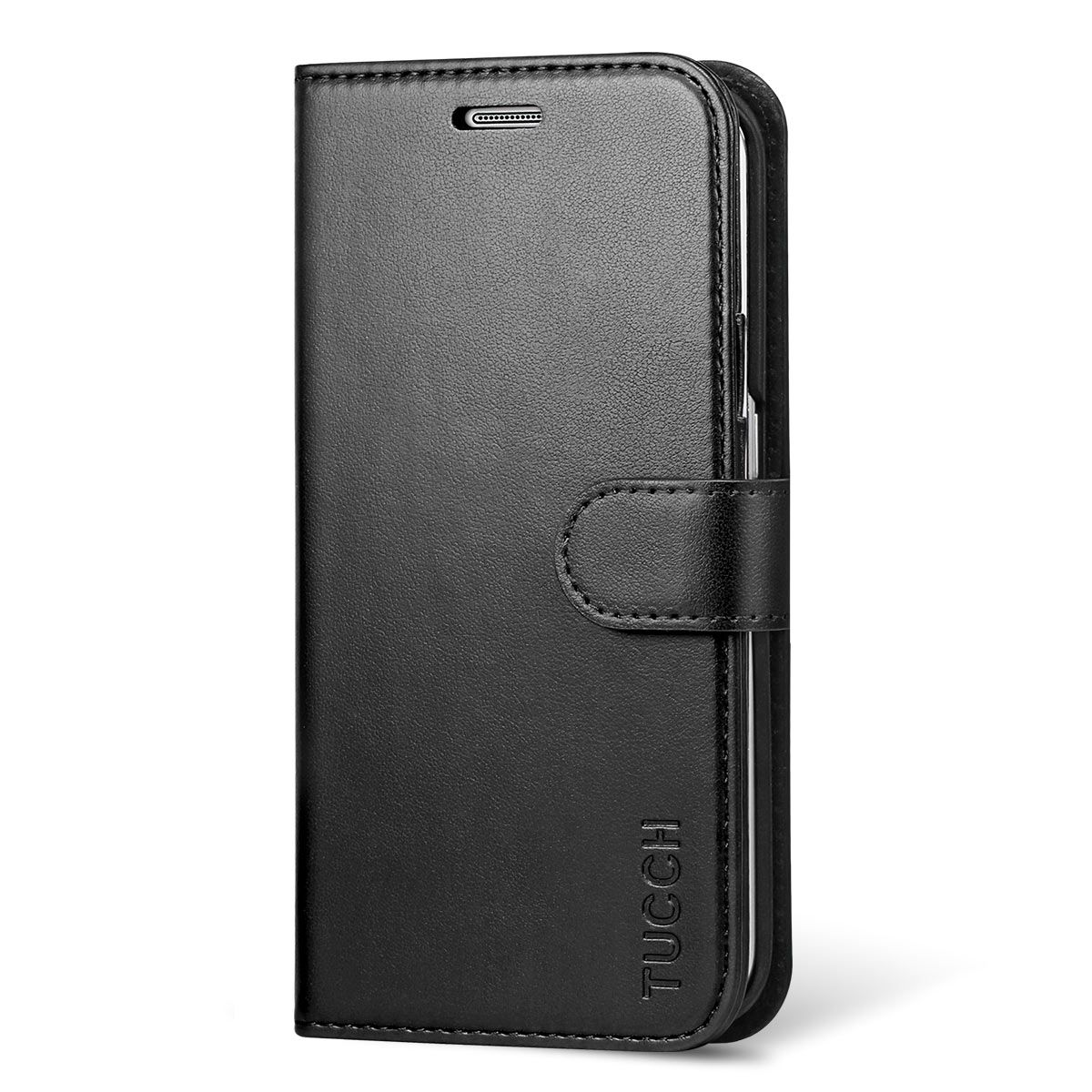 half off bf9c2 2a729 TUCCH Galaxy S6 Edge Leather Wallet Case, Magnetic Closure