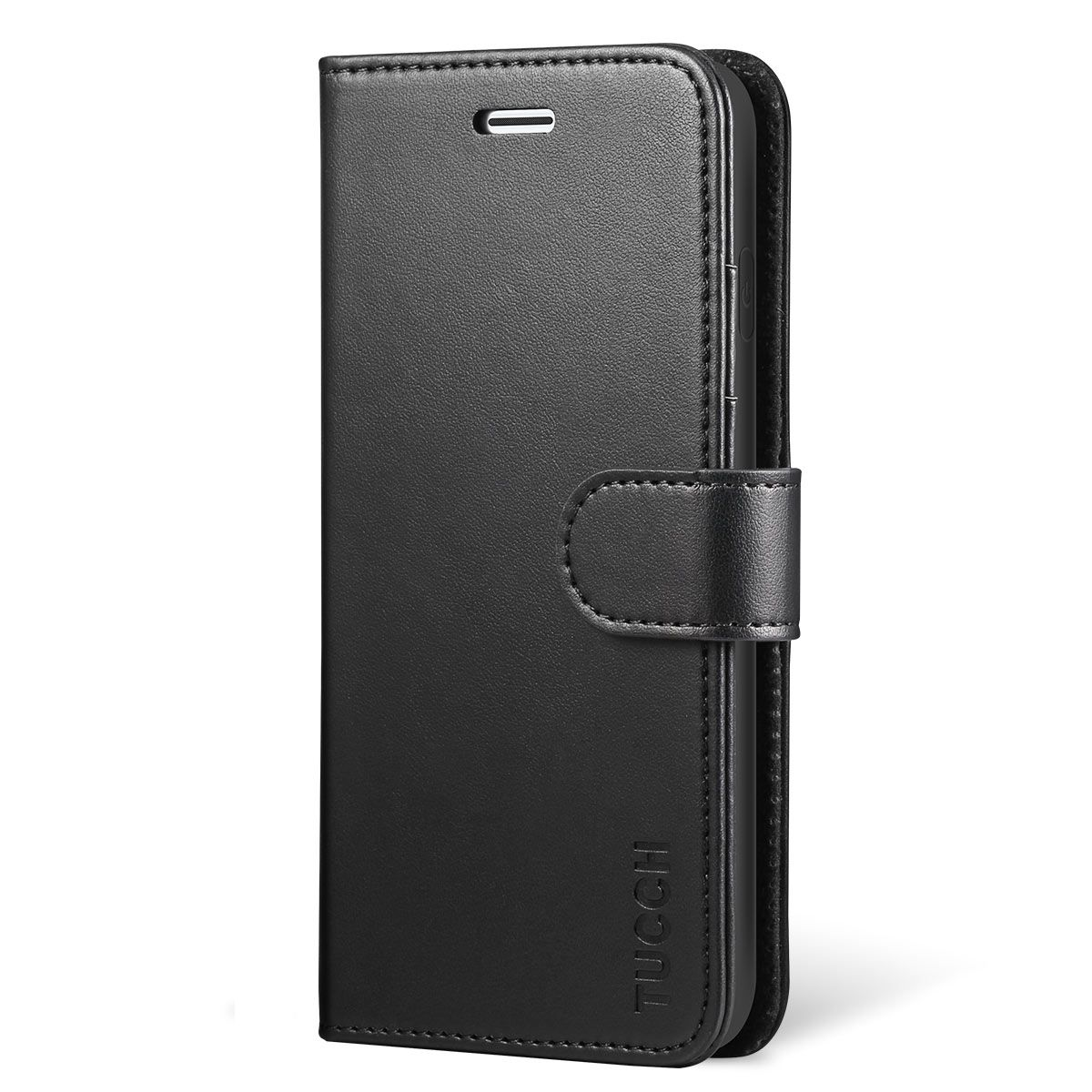 sale retailer 322f4 738a4 TUCCH iPhone X Wallet Case - iPhone 10 Premium PU Leather Flip Folio Case  with Card Slot, Cash Clip, Stand Holder and Magnetic Closure, TPU  Shockproof ...