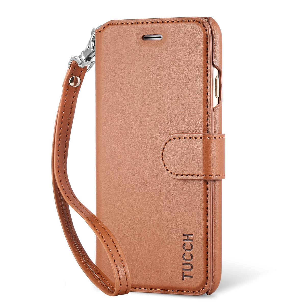 new product 37294 6eacb TUCCH iphone 6 Case, iphone 6S Case, Flip Folio PU Leather Case