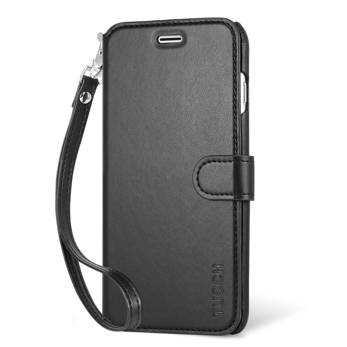 official photos c95ac 01e36 TUCCH iPhone 6S / 6 Plus Case, Wrist Strap, Wallet Case