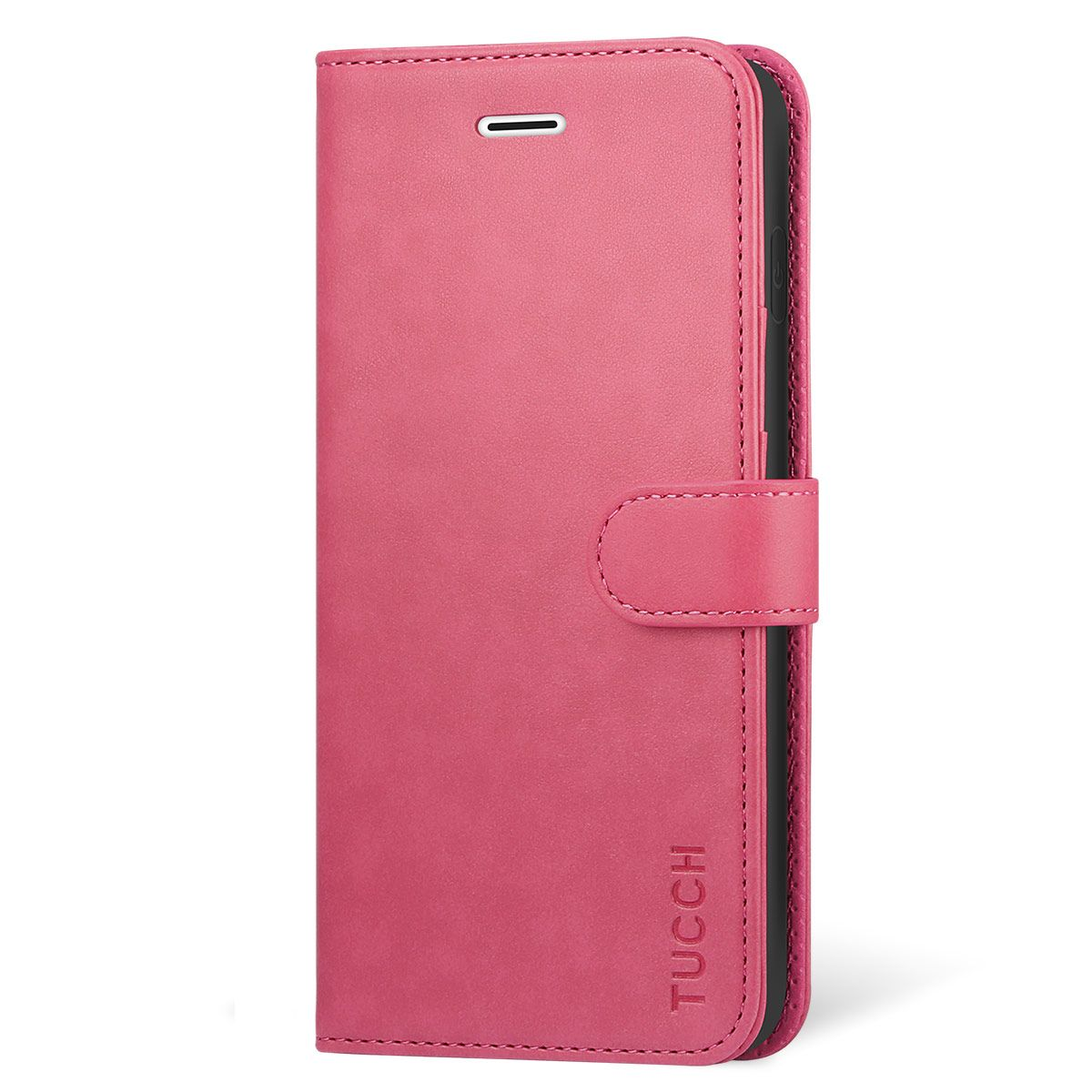 new styles 7c3d8 282f0 TUCCH iPhone X Case, PU Leather Purse Protective Cover KickStand Flip Book  Case, TPU Shockproof Interior Case