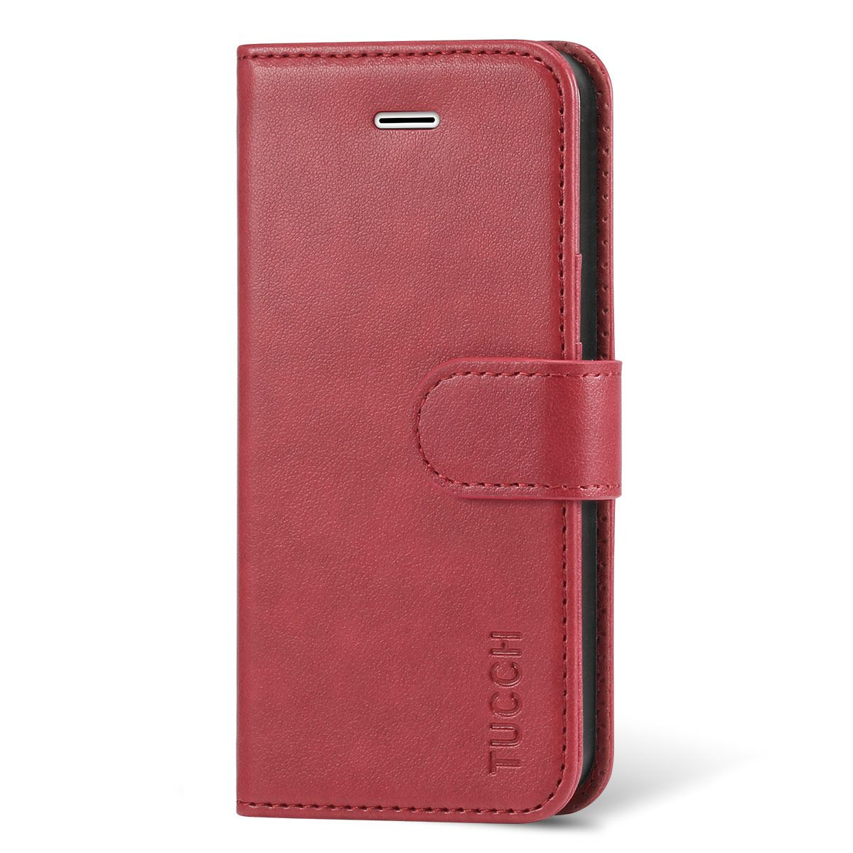 free shipping 6e687 1e3c3 TUCCH Flip Leather Wallet Case, Magnetic Closure for iPhone SE/5S/5