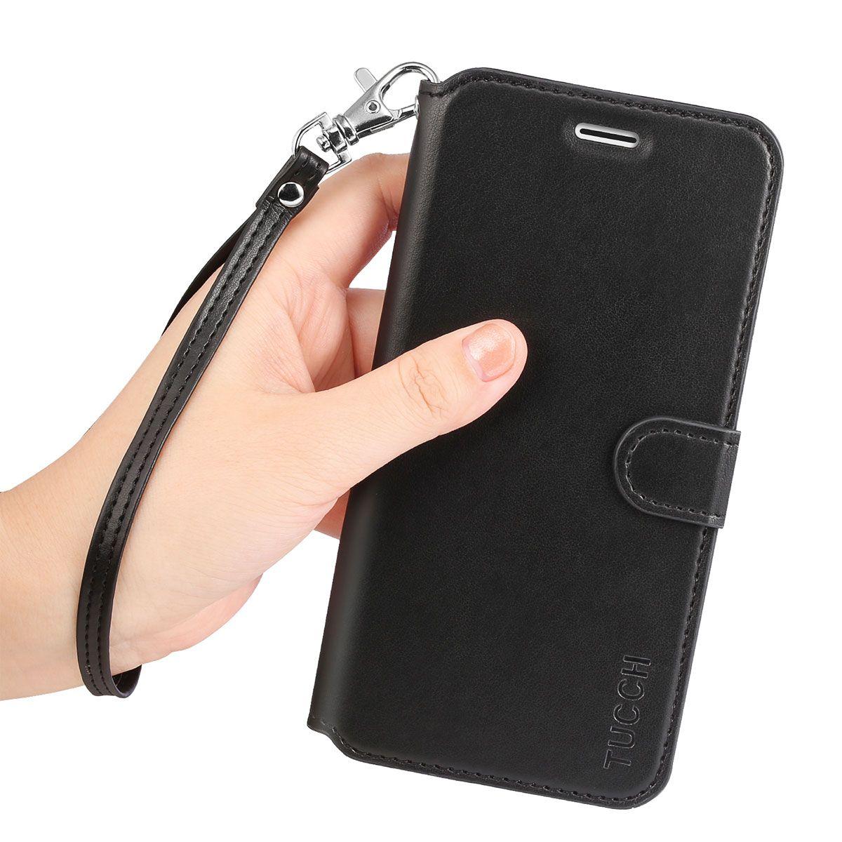 TUCCH iPhone 6S/6 Plus Case, Wrist Strap, Wallet Case