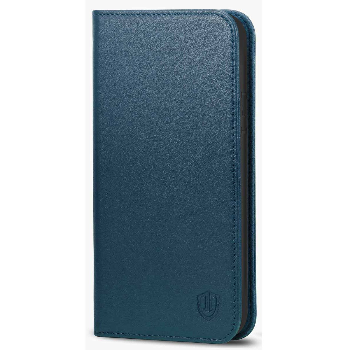 ed3bdb32ef41 SHIELDON iPhone XR wallet case - Genuine Leather Cover with Magnet and  Kickstand