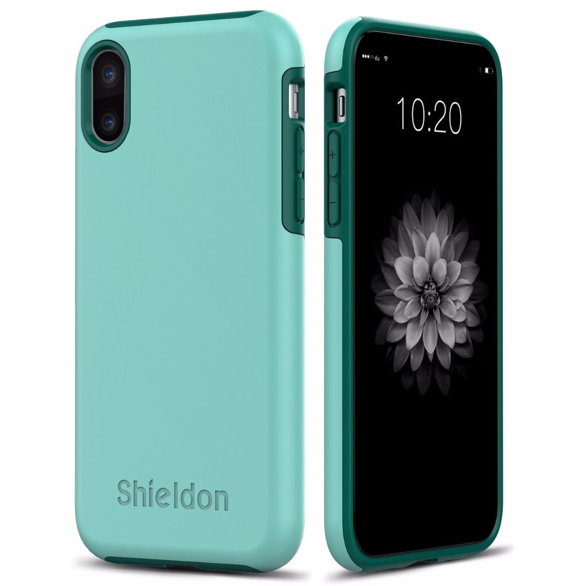 shieldon iphone x case drop protection case for apple iphone x iphone 10 plateau black. Black Bedroom Furniture Sets. Home Design Ideas