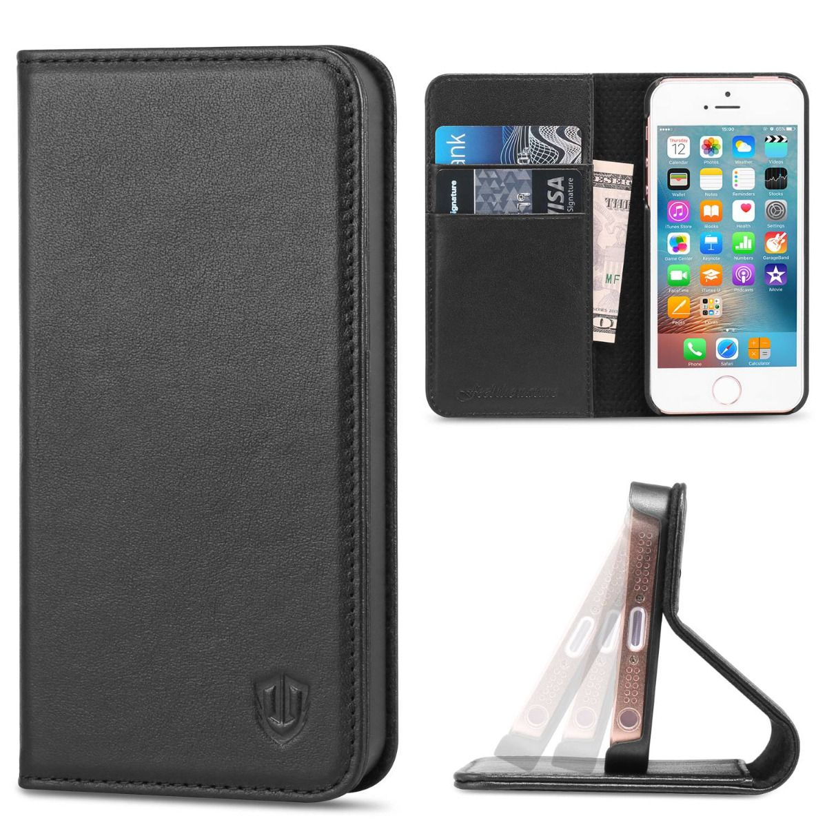 iphone 5s flip case shieldon iphone 5s flip genuine leather wallet covere 14794