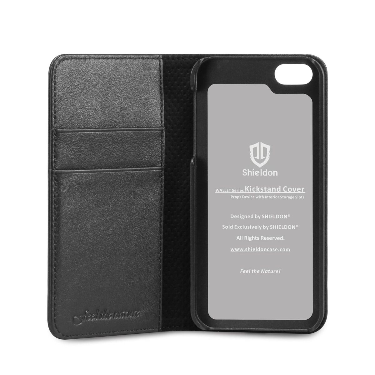 iphone 5s leather case shieldon iphone 5s flip genuine leather wallet covere 14821