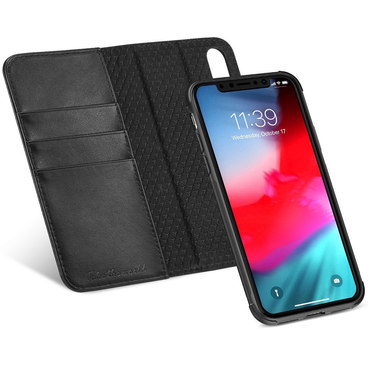 new arrival de58c ad4e2 TUCCH iPhone X Leather Wallet Case, iPhone X Detachable Case 2IN1, Folio /  Flip Cover with RFID Blocking, Kickstand, Credit Card Slots, Magnetic ...