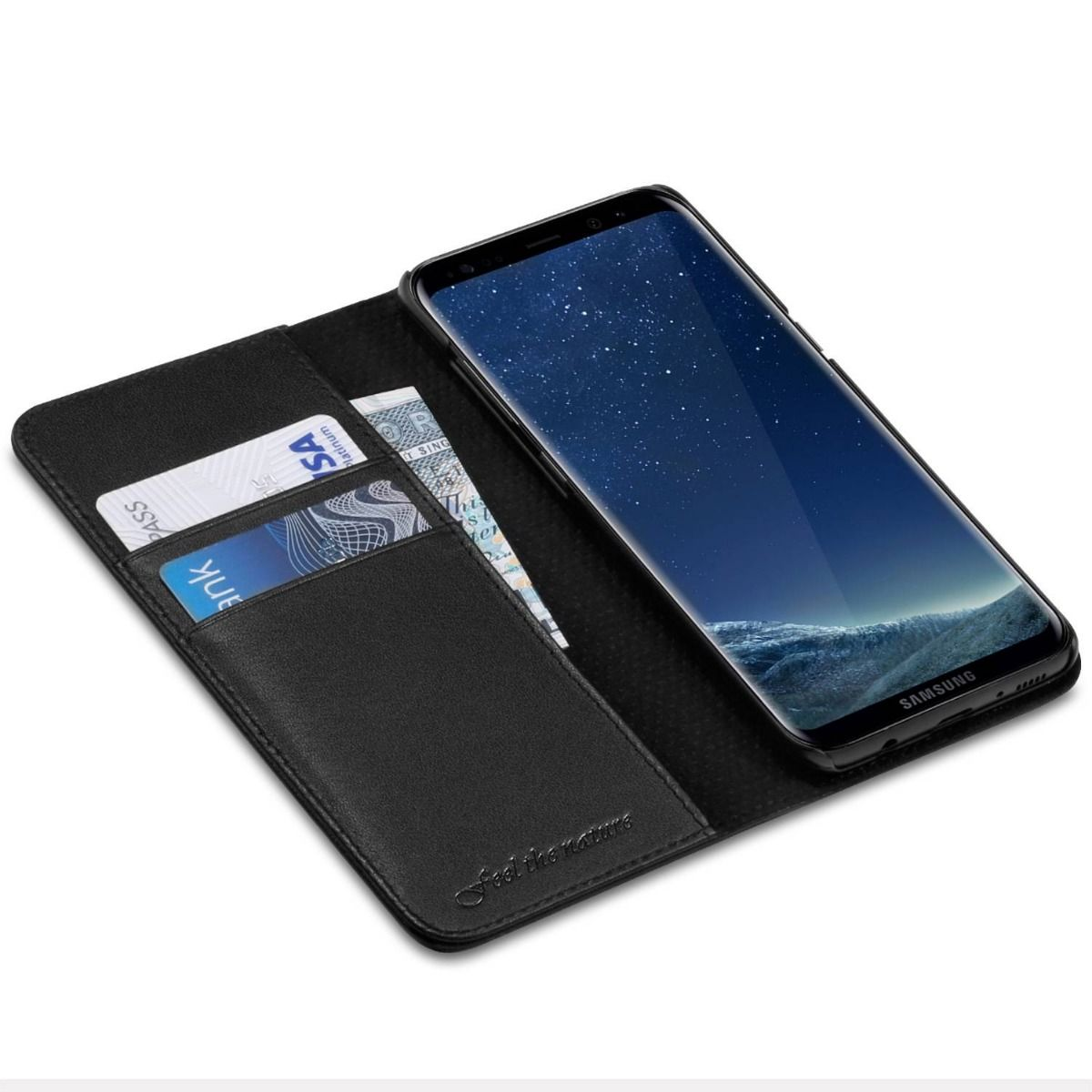 a samsung galaxy s8 phone wallet case