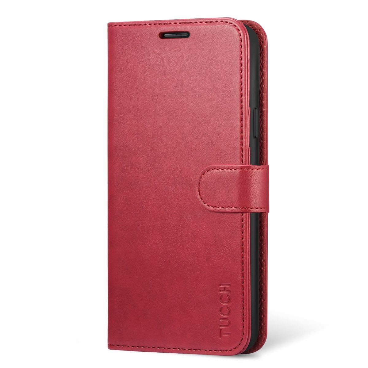premium selection 58784 bd4a3 TUCCH Samsung Galaxy Note 9 Wallet Case - Leather Cover, Stand, Flip Style  - Red